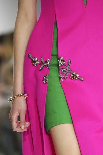Oh how it is in the details - thanks Dior! For the mother of the bride the green inner part could be longer