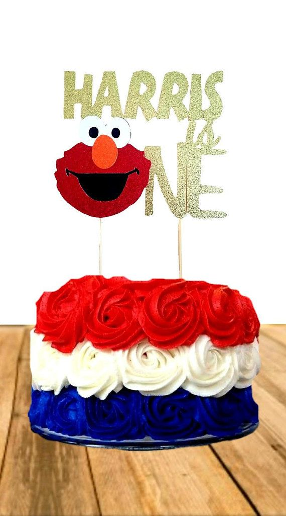 Elmo One Cake Topper Personalized First Birthday 1st Sesame Street In 2018