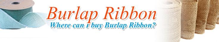 Burlap Ribbon - Find the best Burlap Ribbon available #joann_fabrics #michaels_ribbon #hobby_lobby #etsy #jute_ribbon #red_burlap_ribbon