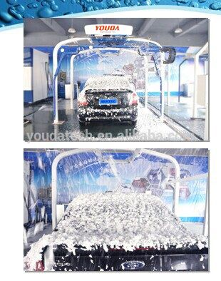 Fully automatic car wash machine price with foam, wax systems, dryer is optional