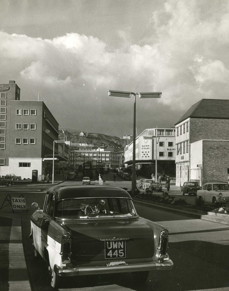 Princess Way, Swansea late 1950s