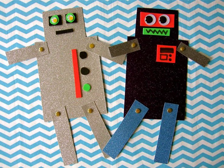 """Robot Friends"": With some creativity and adult assistance, anyone can build a robot with moving limbs & googly eyes!"
