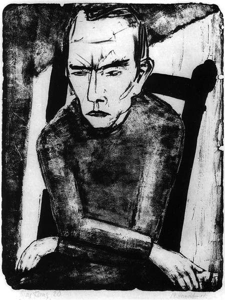 Max Kaus, Sitting Man