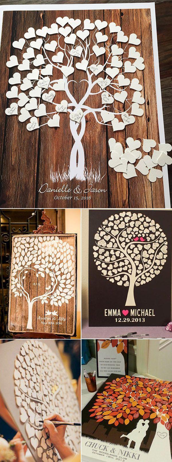 signature tree wedding guest book wedding ideas