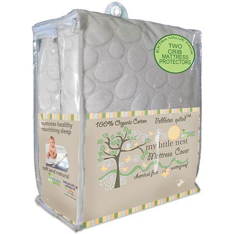 Dreamtex My Little Nest Pebbletex Waterproof Organic Crib Mattress Pad Covers (2-Pack) $45 at Buy Buy Baby