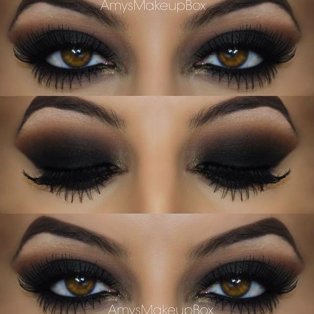 Smokey Eyes by @AmysMakeupBox in Motives Pressed Eye Shadows(Blackout & Chic)!   #Chic #Blackout #Eyes