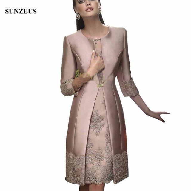 Mode Mère De La Mariée Robe Longue Satin Manteau De Mariage Formelle Robe / Tenue …