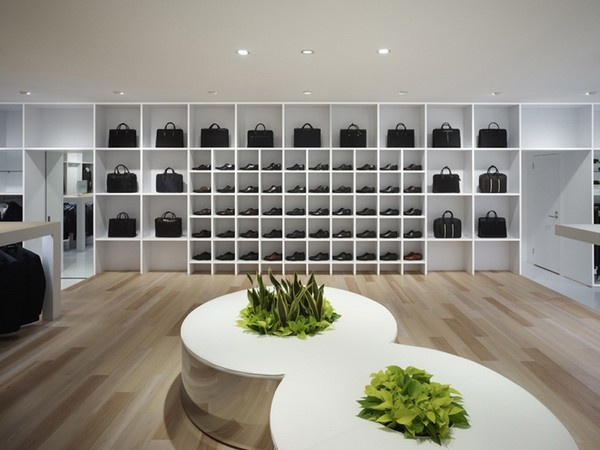 Interior Design Of The Shoe Store Is Also A Small Garden