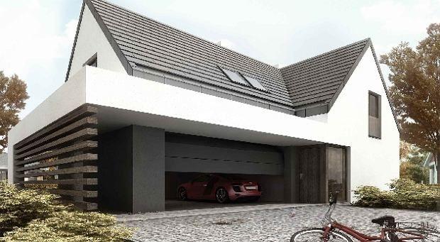 Zdjęcie numer 2 w galerii - Nowoczesny dom z dwuspadowym dachem