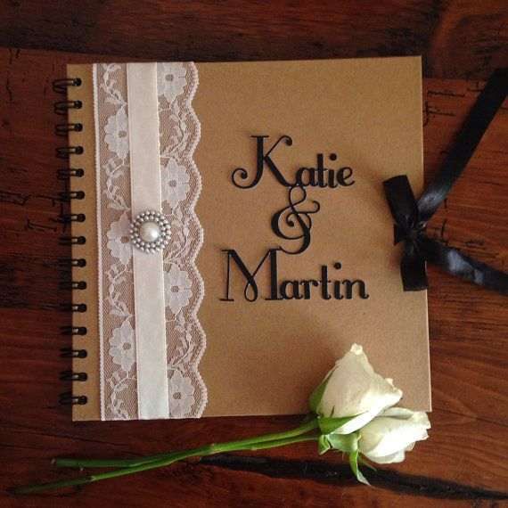 Rustic Wedding Guest Book by HanmadeDesignsUK on Etsy, £15.00