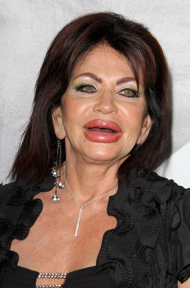 Not such a natural look: Jackie Stallone at 90....No thanks...I admire that she has sass and is in better shape than I am at half her age but I prefer my face which possibly looks even older than hers...all that plastic...blerk...I want wrinkles...I want my face to show my experiences...bland blank faces are boring.