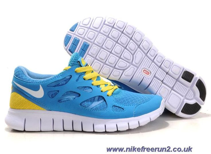 Mens Shoes 2012 Nike Free Run 2 Volt Black Blue