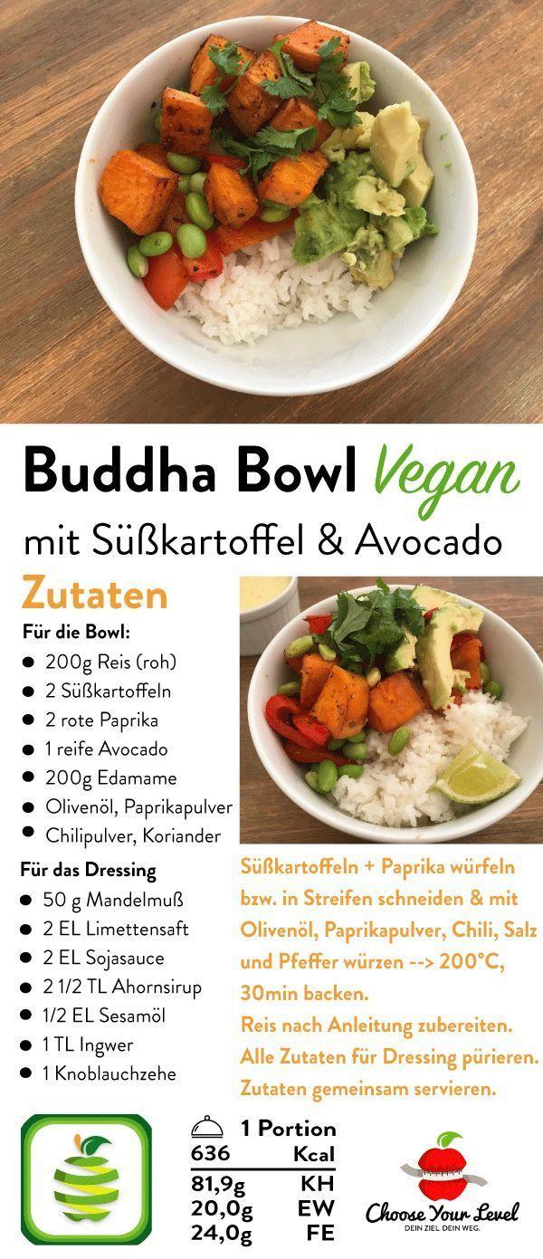 Buddha Bowl Rezept mit Reis und Süßkartoffel