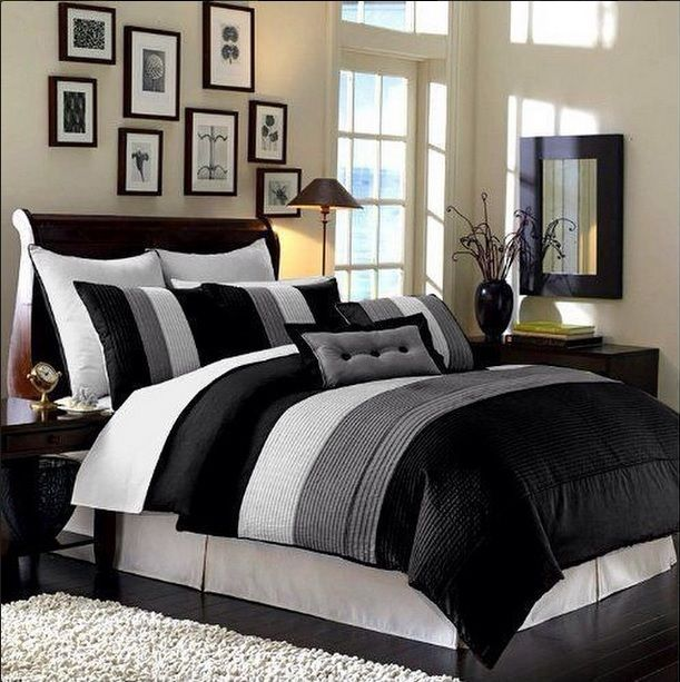 Luxury Stripe Bedding, Grey & White: King Size Full-Sheet Set. Bedding @ http://immortalmastermindx.storenvy.com/products/12405153-luxury-stripe-bedding-grey-white-king-size-full-sheet-set