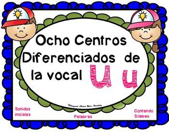 """Ocho Centros diferenciados para la vocal """"U u""""Contenido de este producto…"""