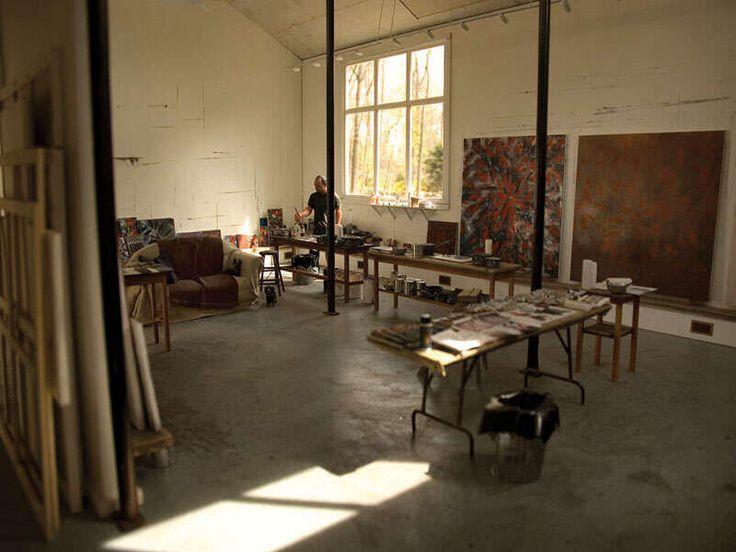 beroemde kunstenaars in hun atelier