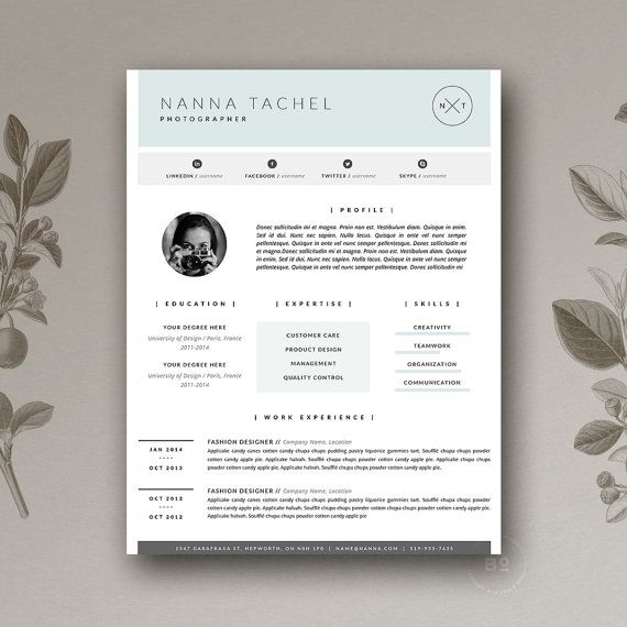133 best + resume templates images on Pinterest Feminine, Art - executive resume design
