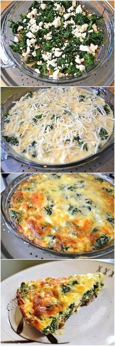 Spinach, Mushroom & Feta Crustless Quiche   Bake a Bite
