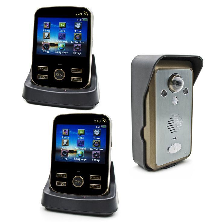213.76$  Watch now - http://alia5o.worldwells.pw/go.php?t=32490487518 - Wireless Door Intercom KDB302 Door Wifi Camera 2.4G Sonnette Wifi Video Door Phone 1v2 Draadloze Deurbel Met Videocamera 213.76$
