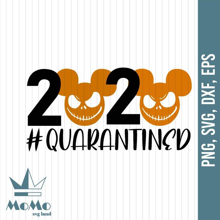 Jack Skellington 2020 Quarantined SVG, Jack Skellington