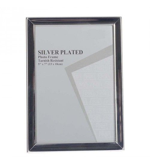 METAL SILVER PLATED FRAME 13X18