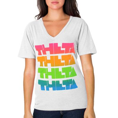 "Screen Printed Sorority Rush Shirts ""Neon Rainbow"" Design #Greek #Sorority #Clothing  #Rush #Recruitment"