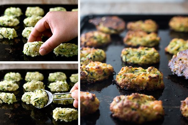 Greek Zucchini Tots / Fritters - transform the humble zucchini into these tasty bites! Easy to make, traditional Greek recipe. #courgette