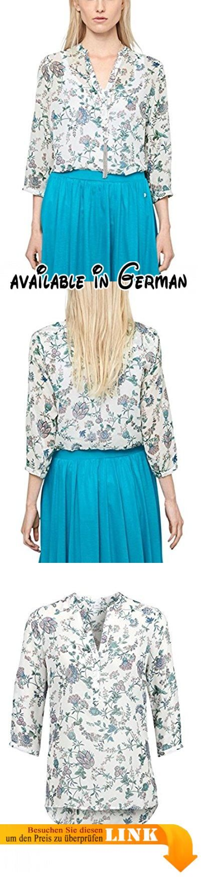 s.Oliver Damen Regular Fit Bluse mit Alloverprint 14.506.19.7809, Gr. 40, Mehrfarbig (creme floral print 02C1). Top modische , feminine 3/4 Arm  Bluse mit tollem rundum Muster #Apparel #SHIRT