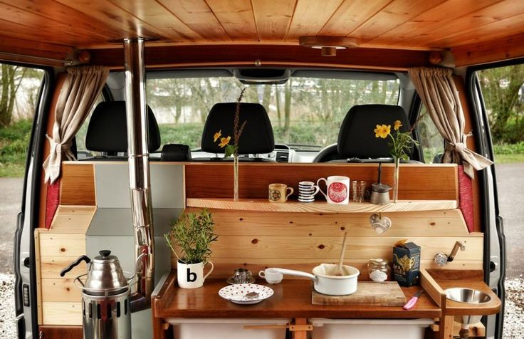 This campervan kitchen is small but perfectly formed with exquisite craftsmanship. Why not try it for yourself by hiring Finn for the weekend for the holiday of a lifetime from quirkycampers.co.uk. Quirky Campers - Stafford - Finn