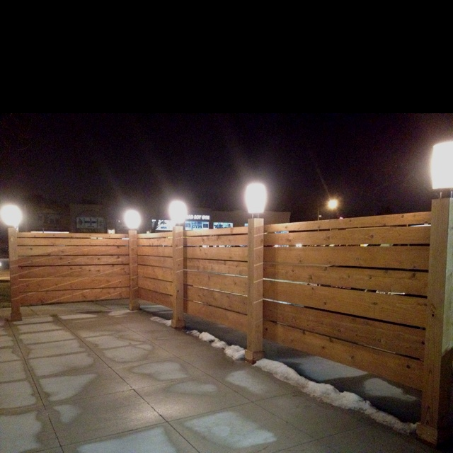 Our backyard will be a wooden horizontal fence about 4 ft tall so actually quite similar to this one...
