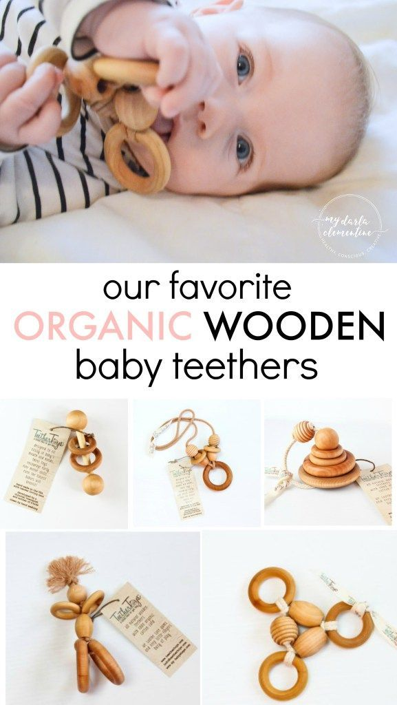 THE BEST organic wooden teething toys and rings that are handmade in California! We found TeetherToys on Etsy and LOVE that they use all natural materials and organic cotton thread. They soothe gums but also are great developmental toys (even suitable for preemies/premature babies!). So cool.