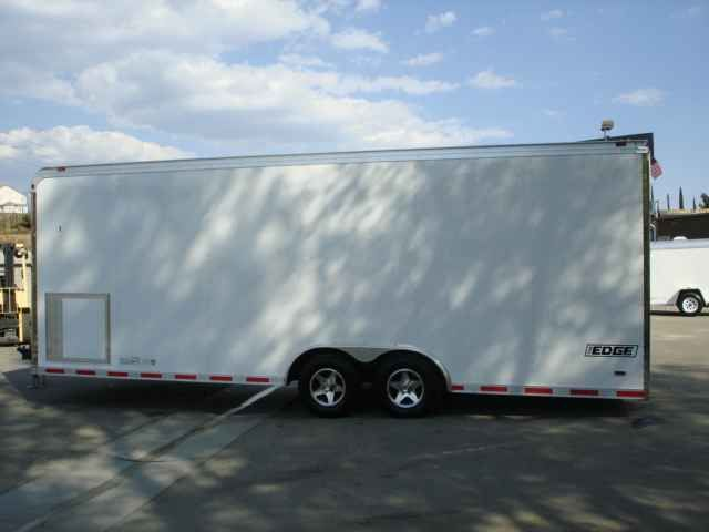 """2016 New Haulmark EG85X24WT3 Toy Hauler in California CA.Recreational Vehicle, rv, 2014 HAULMARK EG85X24WT3, THIS TRAILER IS LOADED WITH OPTIONS. THIS HAULMARK EDGE TRAILER HAS 48"""" INTERIOR BEAVERTAIL, 16"""" ON CENTER ALL STEEL CROSSMEMBERS, 12"""" EXTRA .040 POWDERCOATED ALUMINUM SIDING, 6"""" EXTENDED TONGUE, GREAT FOR TOWING BEHIND MOTORHOMES, 2000LBS TOPWIND TONGUE JACK W/SAND PAD, SKID PLATES IN REAR OF TRAILER FOR THOSE LOW DRIVEWAYS AND DIPS, 2 5200LBS TORSION ELECTRIC BRAKE AXLES W/EZLUBE…"""