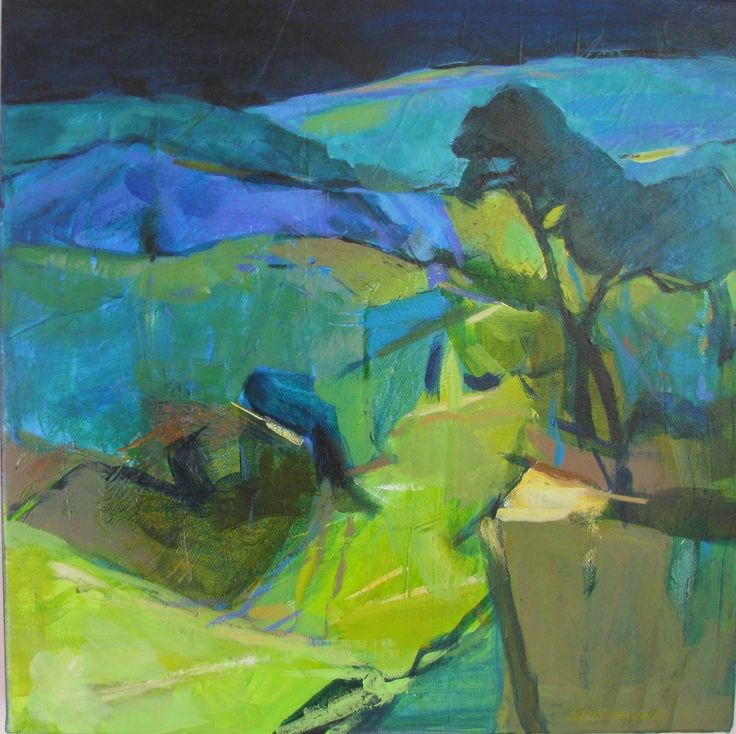 Lib steward landscape 2 acrylic on canvas lib steward for Inspirational paintings abstract