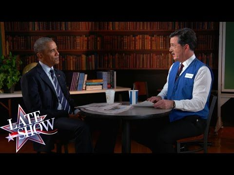 Stephen Colbert Helps President Obama Prepare to Find His Next Job With a Mock Interview