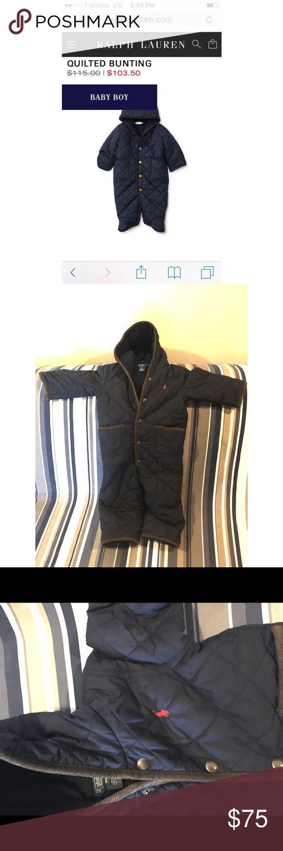 Ralph Lauren Baby Boy (18 months) Quilted Bunting Navy Blue Ralph Lauren Coat 18 months. Worn a handful of times Ralph Lauren Jackets & Coats Puffers