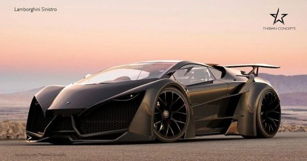 The Lamborghini Sinistro Black Spec rendering concept by Thebian Concepts is a car we wish we could 3D print. What's under the hood? We don't know. If it were up to us, though, we'd spec the 740-horsepower 6.5-liter V12 from the Veneno.