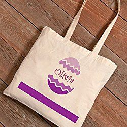 Personalized Easter Egg Hunt Canvas Bag - Chevron
