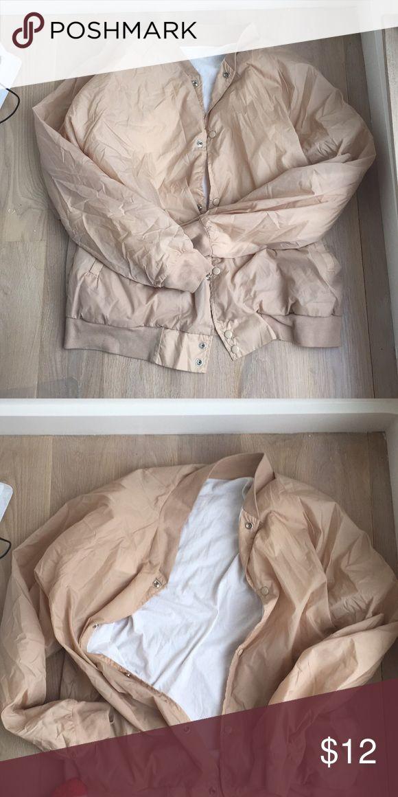 Beige American apparel jacket Sports american apparel jacket American Apparel Jackets & Coats Bomber & Varsity