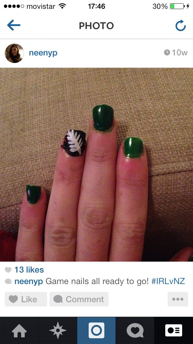 Ireland All blacks rugby nails
