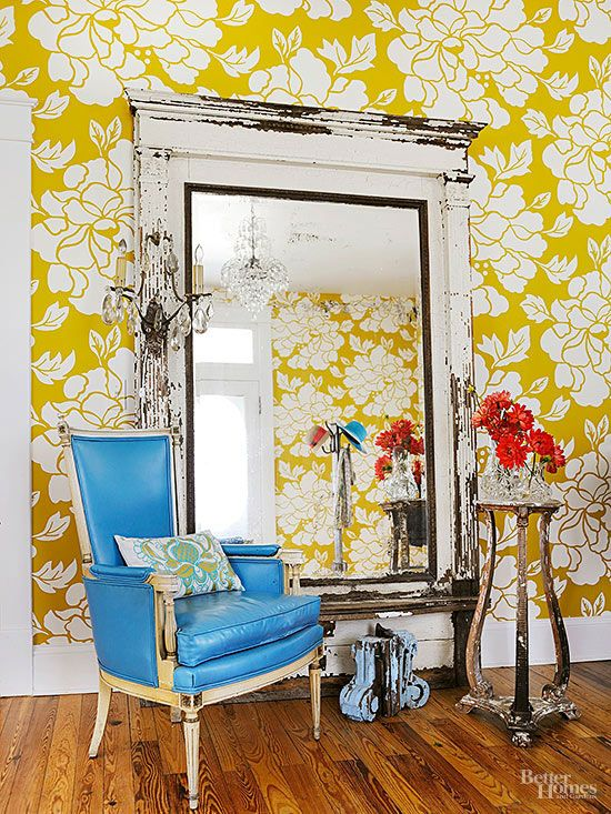 When you remove wallpaper, take it down the same way it went up—in whole sheets, not pieces.