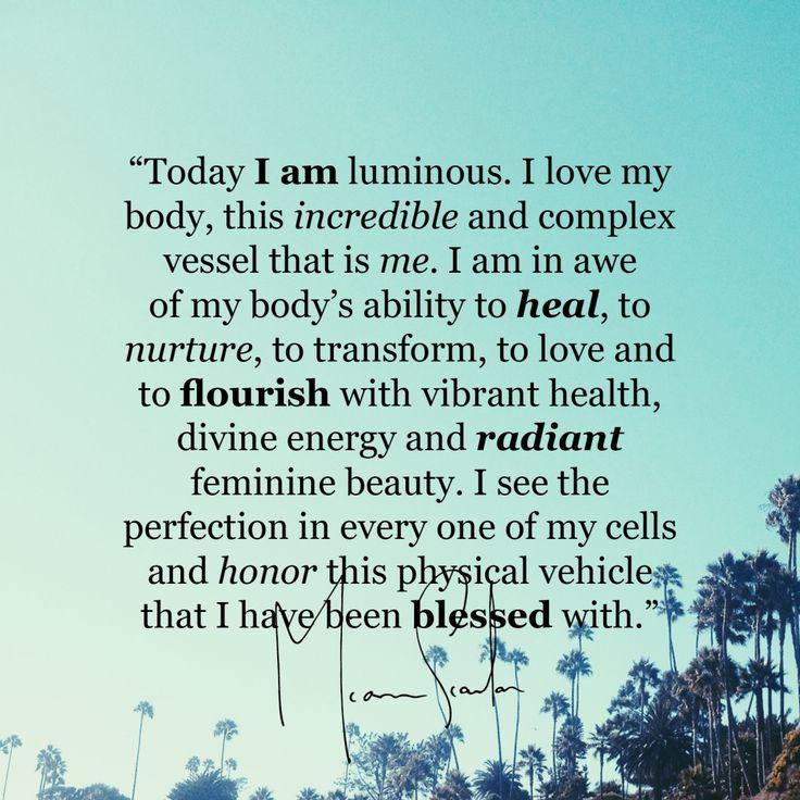 Affirmation. I love myself