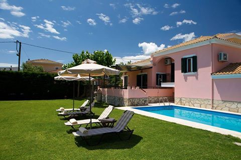By the pool of Anthemis Luxury Villas Lefkada