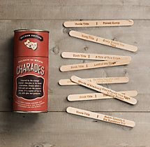 Charades Some stylish old-fashioned fun for anyone with a cottage or who just loves good ol' board games