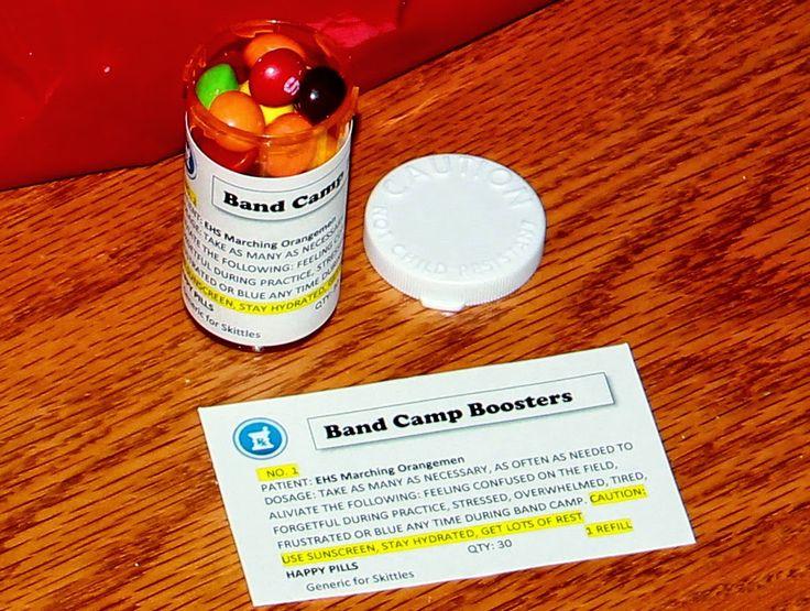 Marching Orangemen: Band Camp Treats - Happy Pills, generic for Skittles!
