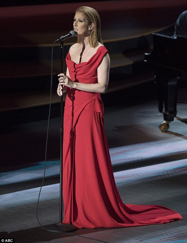 Celine Dion performs and mans the phones at Stand Up to Cancer benefit