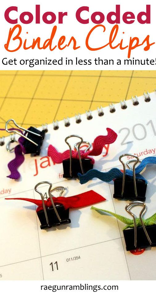 get organized in less than a minute with these fast and super inexpensive DIY color coded binder clips
