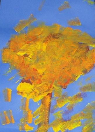 """Fall Trees""  Artsonia Art Museum :: Artwork by Kelsey4519"
