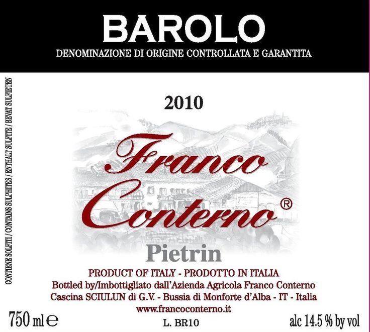 Franco Conterno Barolo Pietrin 2011