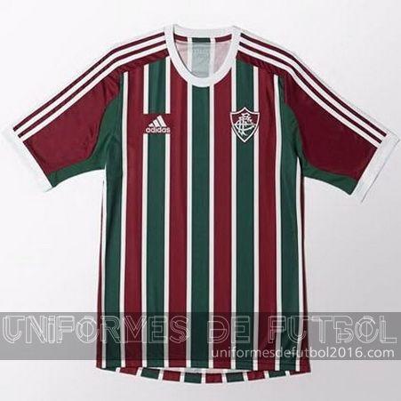 Jersey local para uniforme del Tailandia Fluminense 2016 | uniformes de futbol economicos