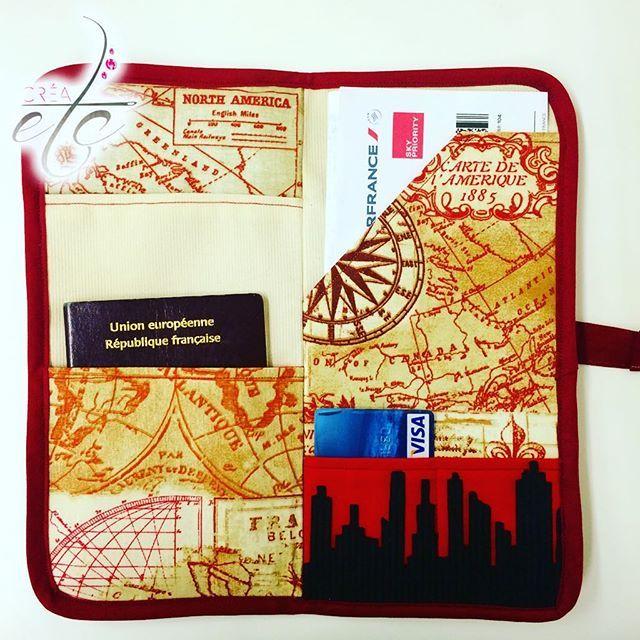 Ça y est, le tuto est en ligne !!!   CRÉAetc - www.crea-etc.net ••la pochette du voyageur•• #couture #tuto #diy #creaetc #creaccessoire #pochetteduvoyageur #pochette #pochetteàpasseport #passeport #voyage #pratique #sewing #sewingart #fashionphotography #travel #traveller #blogger #sewingaddict